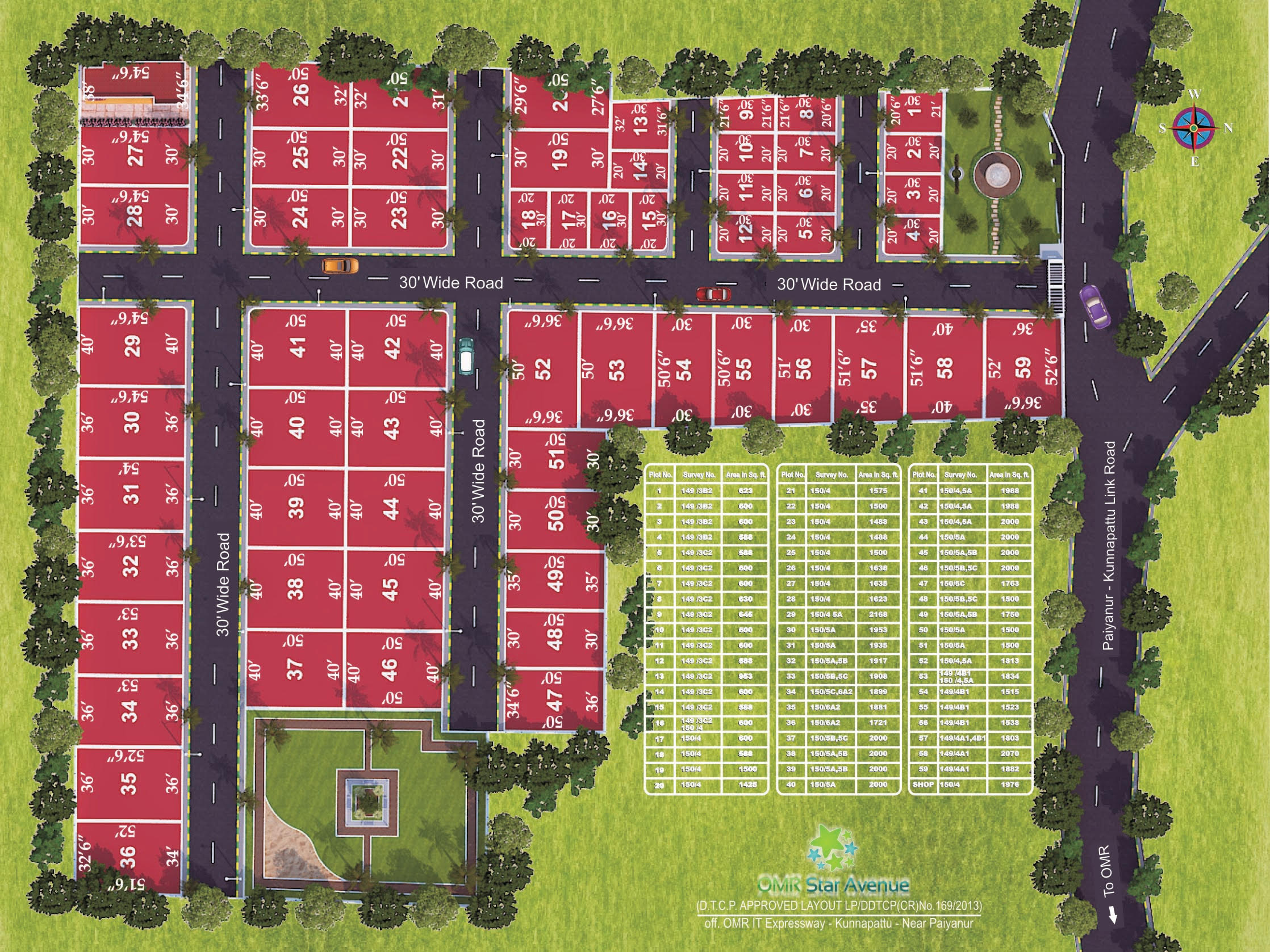 DTCP Approved Plots in OMR